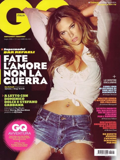 Bar Rafaeli Heats Up Italy's 'GQ'