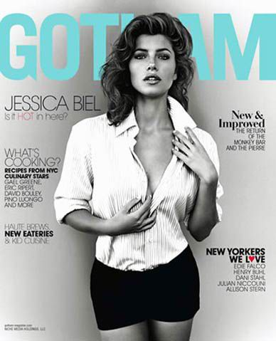 Jessica Biel Throws the She-Hulk to the Side for 'Gotham' Magazine