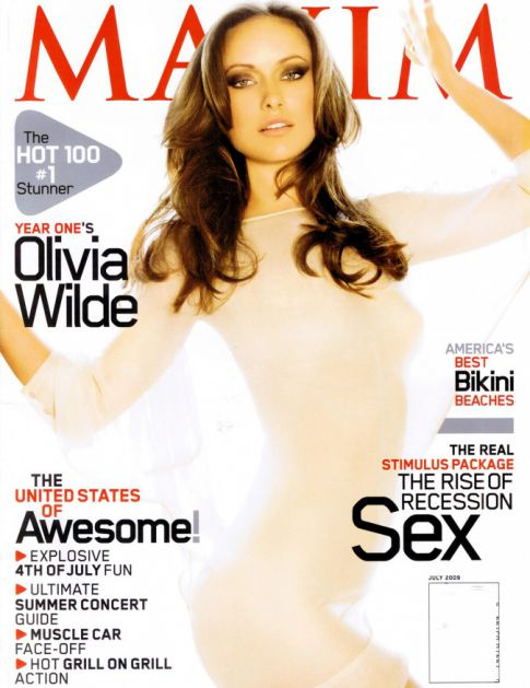 Olivia Wilde Topless 'Maxim' Photo Shoot