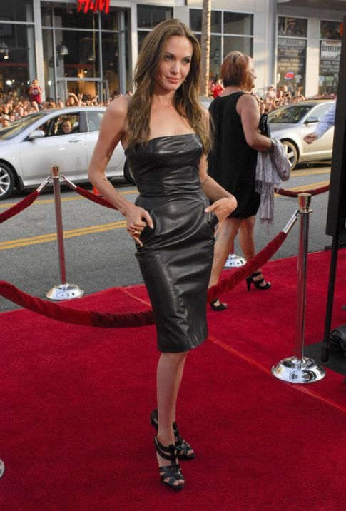 Angelina Jolie Hot In Leather