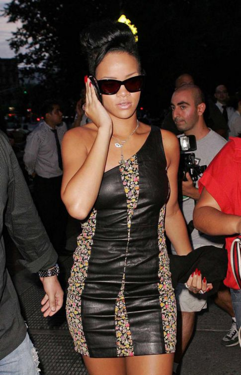 Rihanna Is Wrapped In Leather