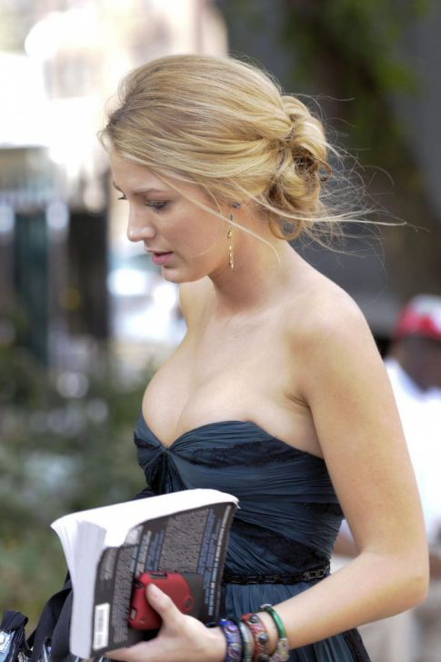 Blake Lively Busts Out