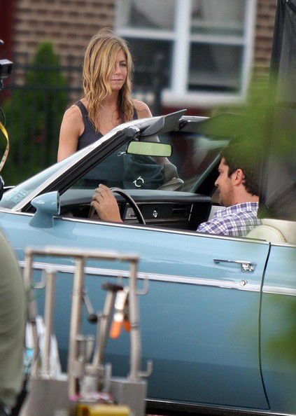 CAUGHT!: Gerard Butler & Jennifer Aniston Sharing A Kiss...Off Set