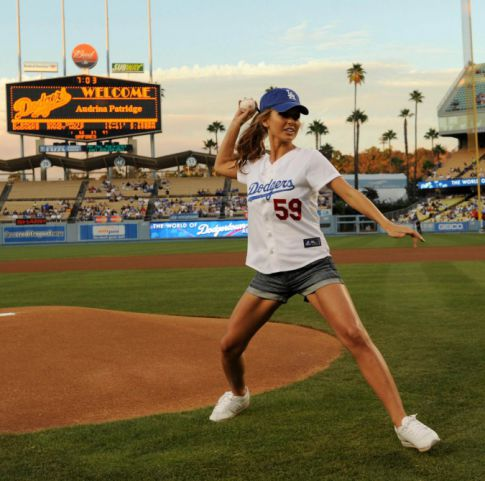 The Dodgers Were That Desperate for Audrina Patridge to Throw Out the First Pitch?