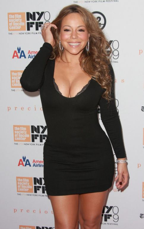 Mariah Carey Busts Out