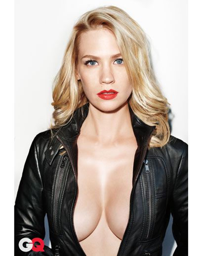 'Mad Men' Star January Jones And Her Rack Take On 'GQ' Magazine