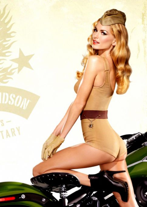Marisa Miller Tight Clothed On A Harley Davidson Gets Our Hearts Racing