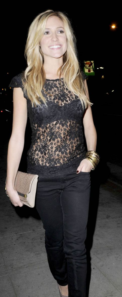 Kristin Cavallari In A See Through Lace Top Is Okay By Us