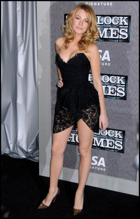 Blake Lively Has Legs For Days At 'Sherlock Holmes' Premiere