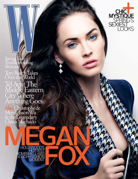 Megan Fox Sexy On 'W' Magazine