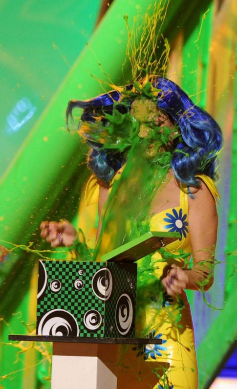 Katy Perry Gets Slimed At The Kids Choice Awards