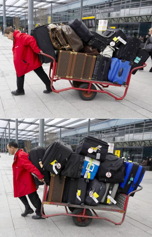 Madonna's Massive Traveling Luggage