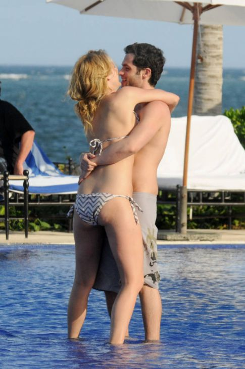 Blake Lively and Penn Badgley at the Beach