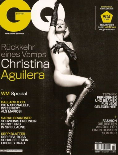 Christina Aguilera In Her Birthday Suit For 'GQ'