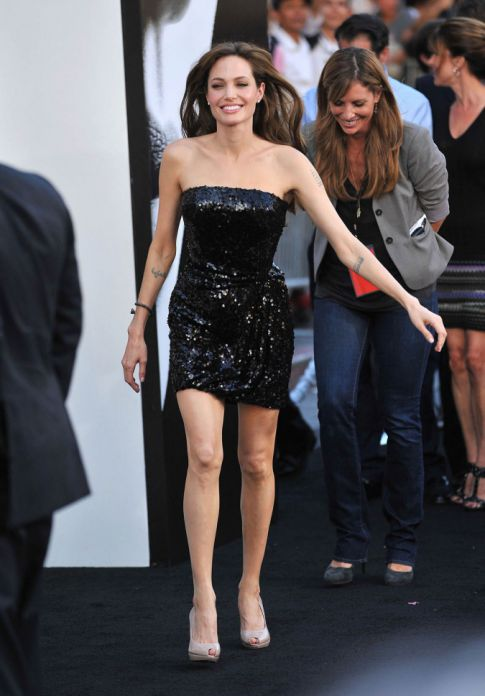 Angelina Jolie At The Los Angeles Premiere Of 'Salt'