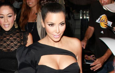 Kim Kardashian's Boobs Come Out For A Night