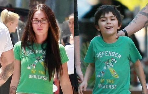 Megan Fox Wears Her Stepson's Clothes