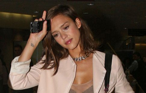 Jessica Alba's See Through Top Is Awesome