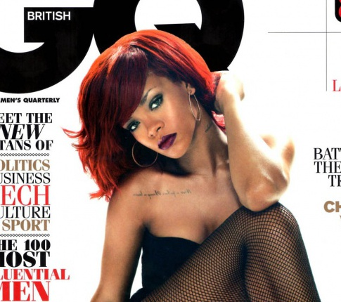"Rihanna Heats Up The Cover Of ""GQ"""