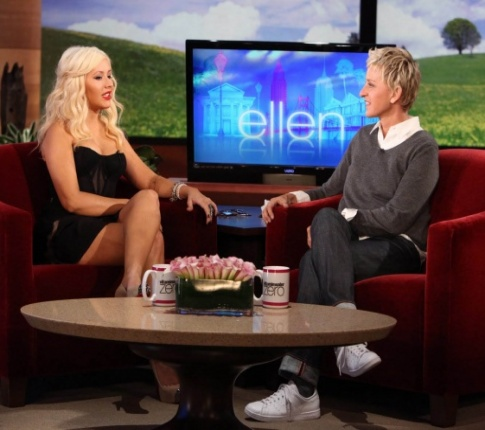 Christina Aguilera Dishes About Love Life With Ellen DeGeneres