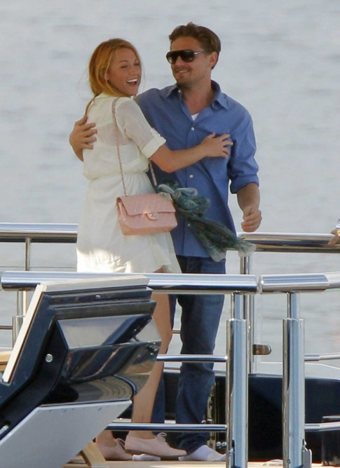Blake Lively And Leonardo DiCaprio Are Hugging On A Boat