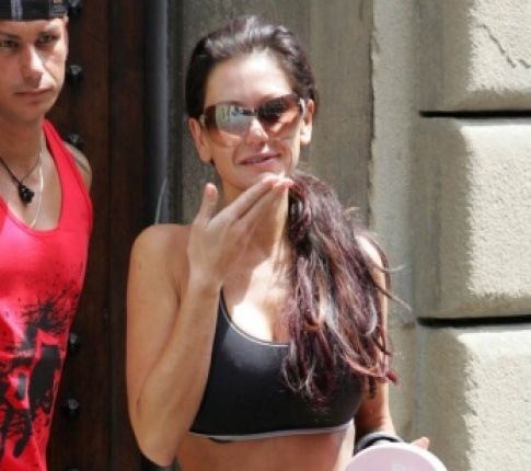JWoww's Slim Physique In Italy