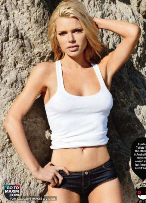 Sophie Monk's Hot Maxim Cover