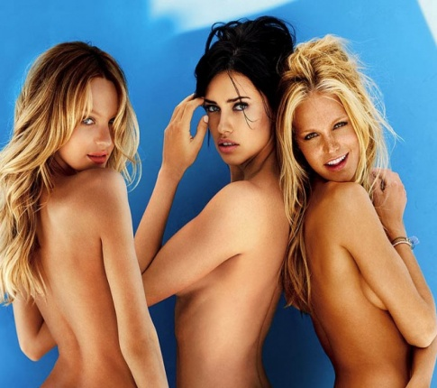Morning Treat: Topless Victoria Secret's models