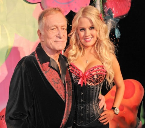 Hugh Hefner's New Girlfriend's Mother Says They're Dating For Publicity...Golly Gee