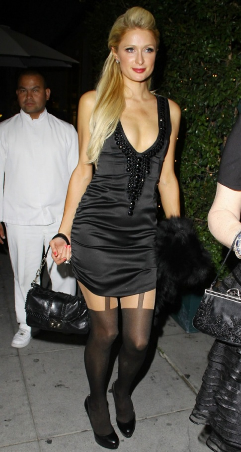 Paris Hiltons little black dress.