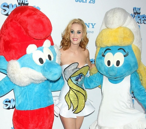 Katy Perry at Smurfs Premier!