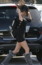 Megan Fox in Tight Black Dress, Shops for Clothes
