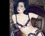 Dita Von Teese flashes flesh in new lingerie campaign
