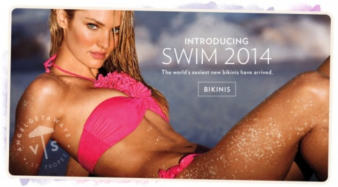 Candice Swanepoel covers Victoria Secret Swim 2014