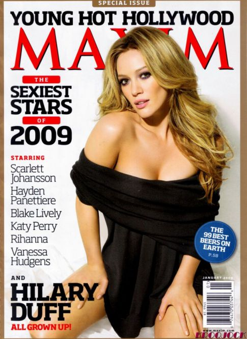 Hilary Duff Gets Practically Naked for Maxim, January