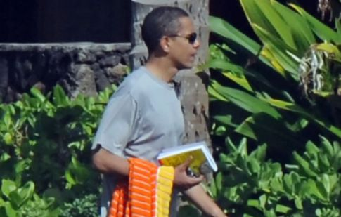 Barack Obama on Vacation, Presidential Stud Muffin