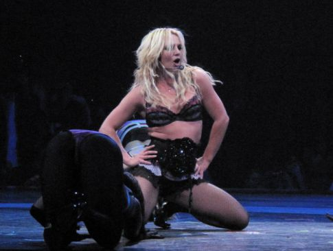 Britney Spears Thrusts Herself on Stage, Literally